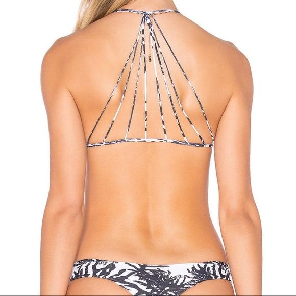 2634e0eb2a866 MIKOH Swim | Banyan Monstera Palm Strappy Bikini Top L | Poshmark